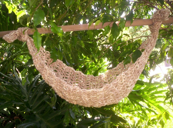 Crocheted  Baby Hammock   Photo Prop Only   Ready to ship   Color Cream mixure