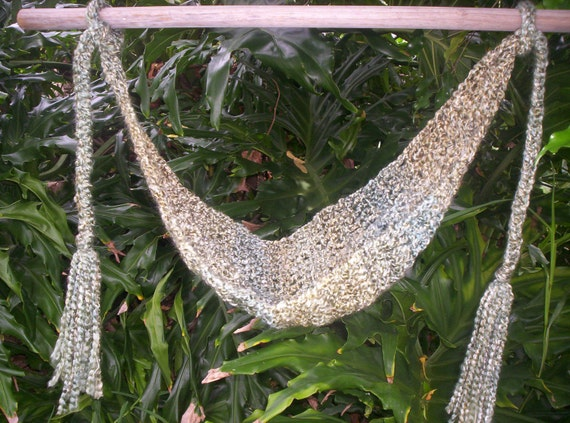 Sale Crocheted Baby Hammock  SUPER SOFT Ready to ship   Green Mixture