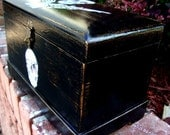 Upcycled Vintage 1920s Solid Wood Pirates Chest