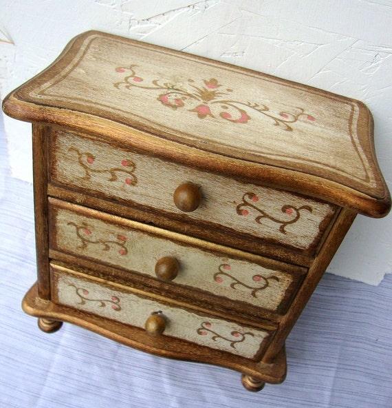60s Wooden Jewelry Music Box Lara's Theme