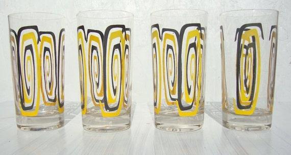 Mid Century Mod Eames Glasses Set of Five