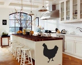 Chicken Hen Rooster Wall Art Home Silhouettes Graphics Decals