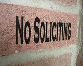 No Soliciting decal FREE Shipping