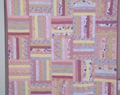 Yellow and Pink Baby Girl Quilt