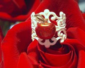 Snow White Inspired Poison Apple Ring -FREE U.S. SHIPPING