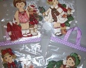 Holiday Fabric Paper Doll