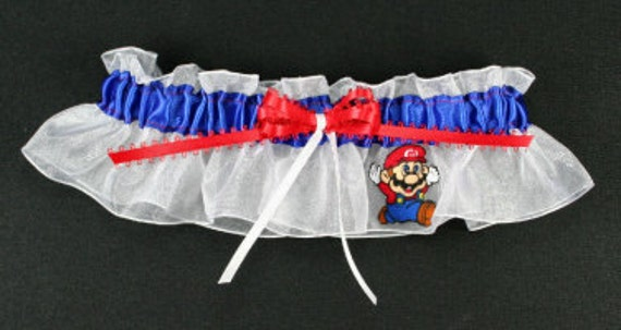Personalized Mario Bridal keepsake Wedding Garter
