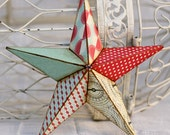 10in red white and sorta blue barn star