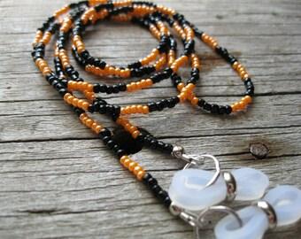 Halloween Orange and Black Eyeglass Chain