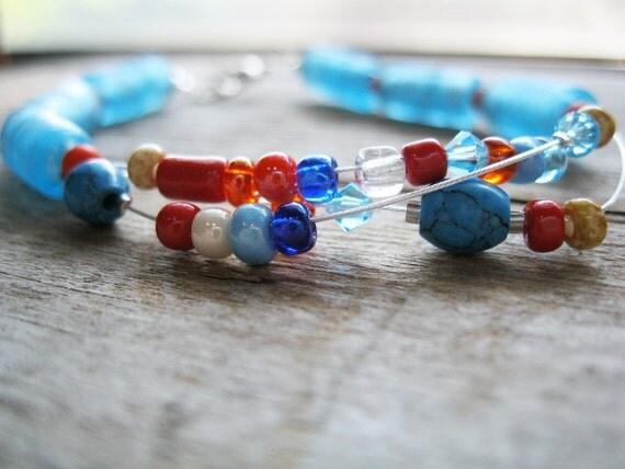 Orange Blue Bracelet Plus Size