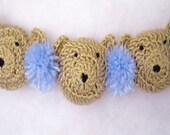 Crocheted Baby Teddy Bear Crib Garland