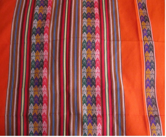 Handwoven Peruvian 41x48 Manta Shawl Peru