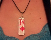 King of Diamonds Necklace - Real Playing Card set in a Resin Pendant - One of a kind