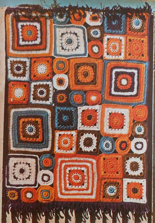 retro 70 u0026 39 s boho afghan crochet pattern 30 x 40