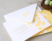 Box of 25 Printable Invitations - A7 (5x7) with Printed Envelopes - Blossoms, Butter