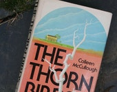 THE THORN BIRDS vintage book hc hardcover . dust jacket . book club edition