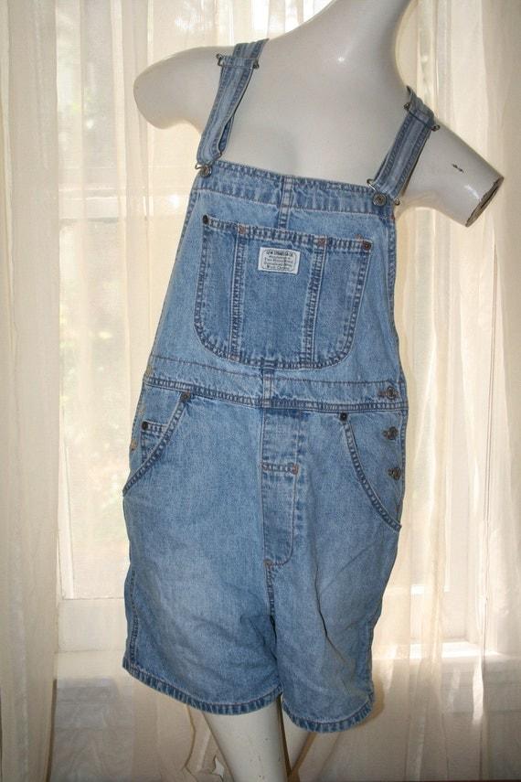 Vintage Levi S Jean Bib Overalls Denim Work Shorts By