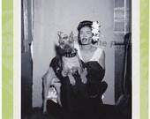 Billie Holiday with Boxer dog - Retro Handmade Greeting Card