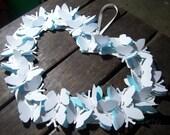 Custom Heart Church Wedding Pew Wreath