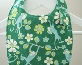SALE  ITEM    Reversible Baby Bib in Monkey Business