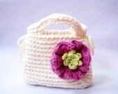 Little Girls First Purse - Crochet bag pattern / PDF