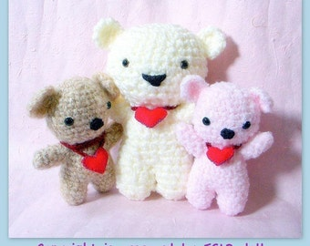 Huggy Bear amigurumi pattern - crochet amigurumi Animal toy doll tutorial PDF