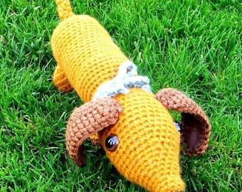 Little Hot Dog / Dachshund /  Wiener dog / Sausage dog - Crochet Amigurumi pattern