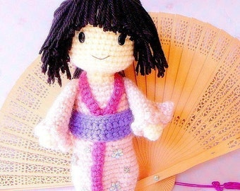 Aiko - Crochet Amigurumi Japanese girl doll pattern / PDF
