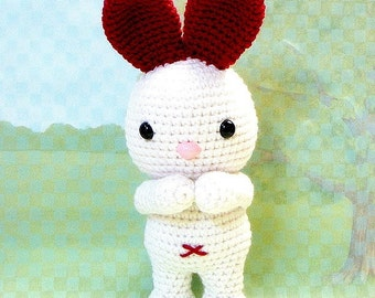 Amigurumi pattern - LOVE Ears Bunny - Crochet Amigurumi animal doll tutorial PDF