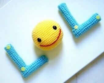 Amigurumi - LOL- Crochet  Amigurumi 2 letters patterns / PDF