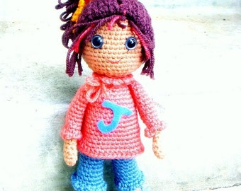 Joy - Amigurumi girl doll crochet pattern / PDF