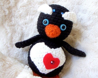 Crochet amigurumi pattern - Little Baby penguin - Amigurumi animal tutorial PDF