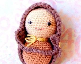 Big Peanut Baby - Amigurumi pattern - Crochet doll tutorial PDF - crochet amigurumi