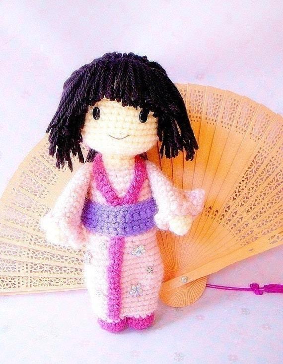 Japanese Amigurumi Doll Patterns : Aiko Crochet Amigurumi Japanese girl doll pattern / PDF