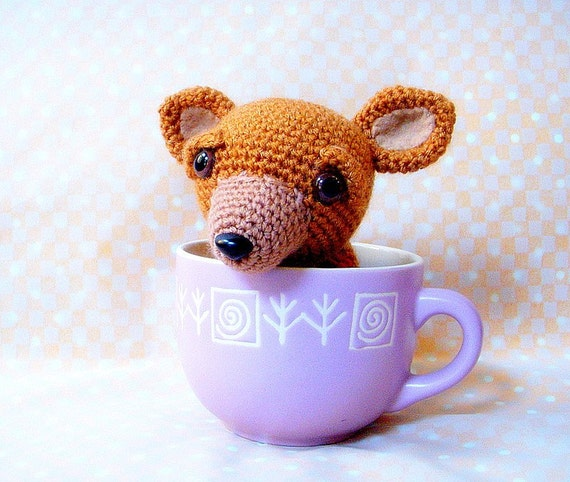 Amigurumi dog pattern - T cup Chihuahua - Crochet animal tutorial PDF