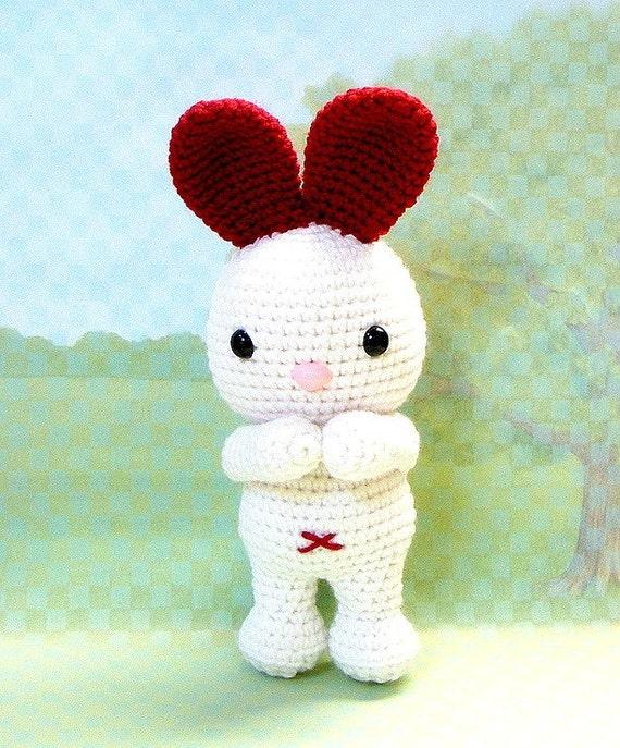 Amigurumi Triangle Ears : LOVE Ears Bunny Crochet Amigurumi animal doll pattern / PDF