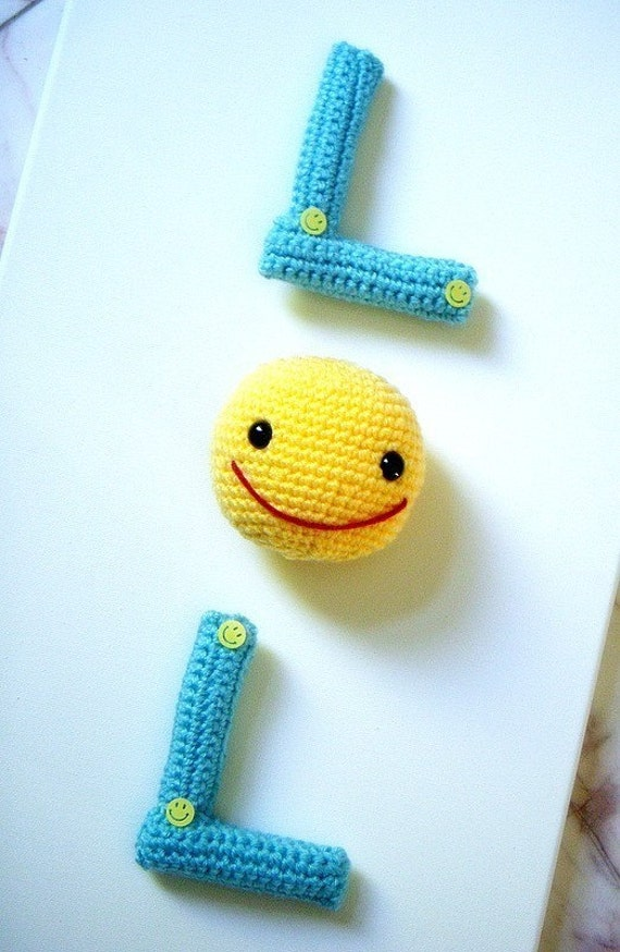 Amigurumi Letters Patterns : Amigurumi - LOL- Crochet Amigurumi 2 letters patterns ...