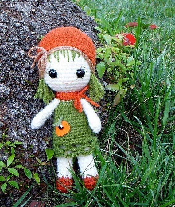 Amigurumi Klesik Doll : Amigurumi doll pattern Orange / Pumpkin Qtie Corchet