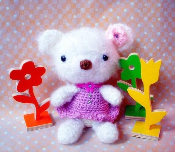 Bear Sister/ Girl Bear- Amigurumi crochet doll pattern / PDF