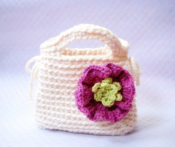 Little Girls First Purse Crochet bag pattern / PDF by TGLDdoll