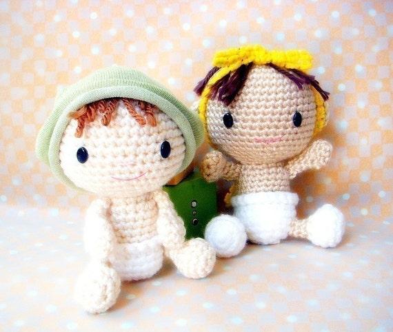 Crochet Wedding Amigurumi Patterns : Baby Baby Amigurumi crochet pattern doll pattern / by TGLDdoll