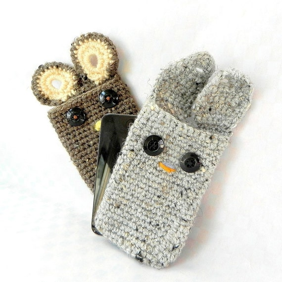Crochet amigurumi pattern - Ipod Pals - Bunny or bear or owl - Crochet tutorial PDF