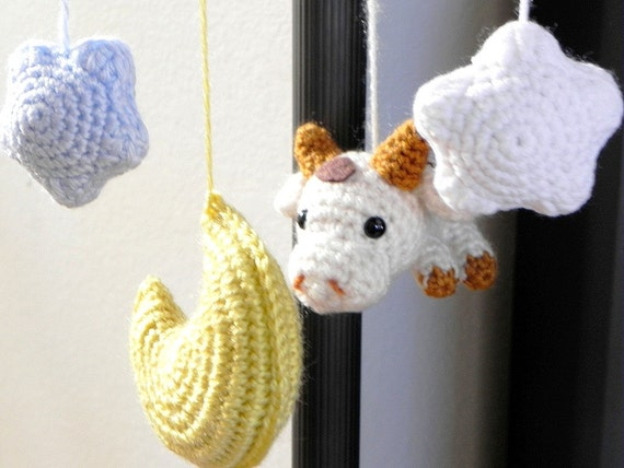 Amigurumi Moon Pattern : Amigurumi toy pattern Cow N Moon Crochet amigurumi by TGLDdoll