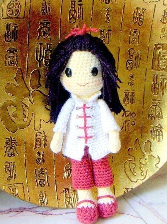 Ling ling - Crochet Amigurumi girl doll pattern / PDF
