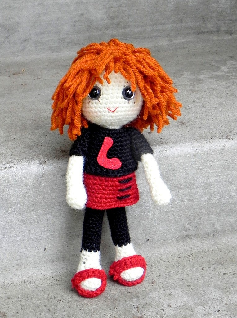 Amigurumi Hello Kitty Crochet Pattern : Lena Crochet Amigurumi girl doll pattern / PDF