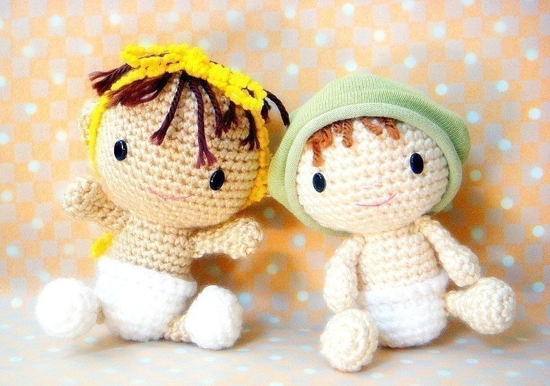 Amigurumi Baby Free Pattern : Amigurumi baby crochet doll pattern pdf
