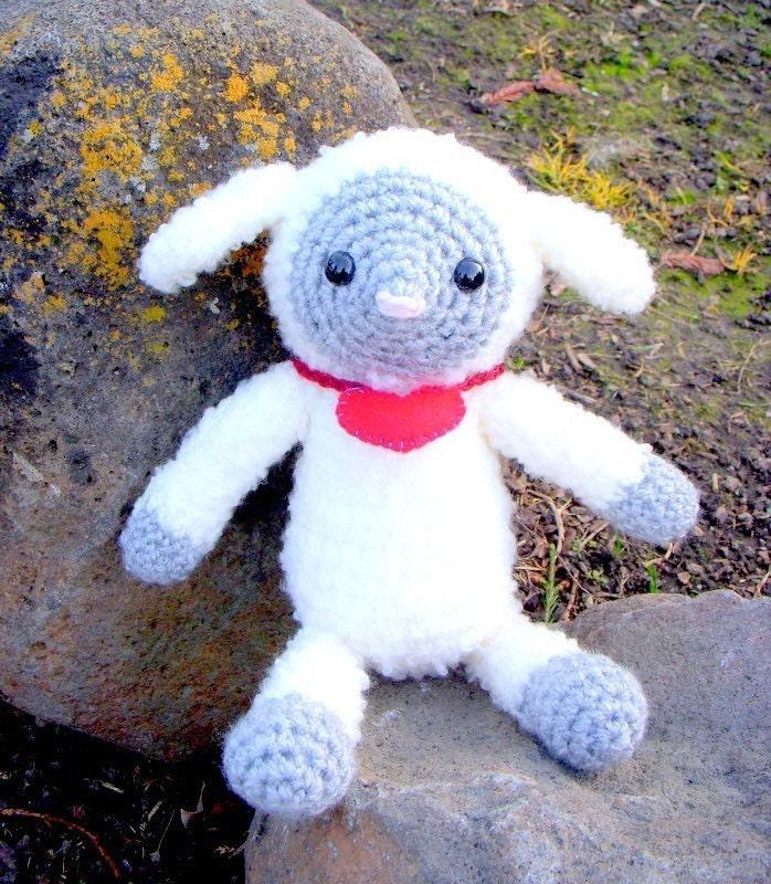 Free Crochet Amigurumi Lamb : Crochet Amigurumi animal doll pattern Sweet little lamb