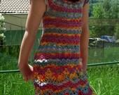 Girl's stylish crochet dress - ready to ship