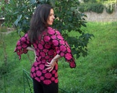 Crochet tunic with flower motives - ready to ship