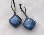 Indigo Blue Kyanite Earrings Sterling Silver
